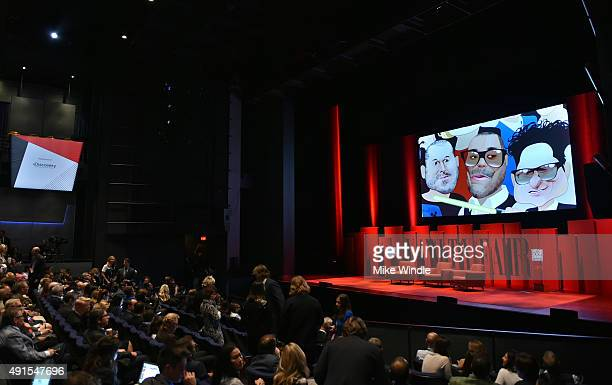 General view inside of the Vanity Fair New Establishment Summit at Yerba Buena Center for the Arts on October 6 2015 in San Francisco California