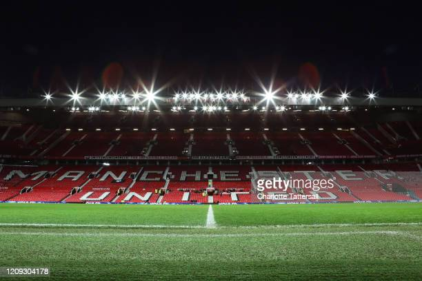 General view inside Old Trafford prior to the FA Youth Cup: Sixth Round match between Manchester United and Wigan Athletic at Old Trafford on...