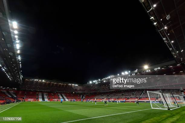 A general view inside Old Trafford prior to the UEFA Champions League Group H stage match between Manchester United and RB Leipzig at Old Trafford on...