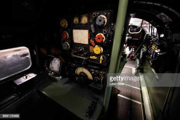 A general view inside one of two surviving airworthy Avro Lancaster bombers ahead of an event to mark the 75th anniversary of the 'Dambusters' raids...