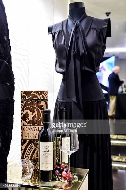 General view inside Roberto Cavalli shop during 'La Vendemmia 2015' The World's Finest Wine Lifestyle Experience on October 8 2015 in Milan Italy