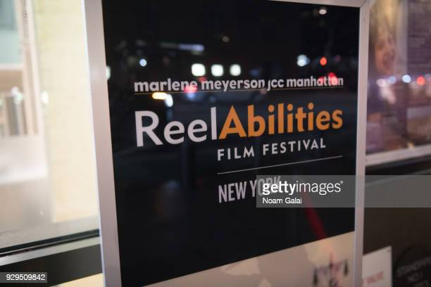 General view inside the 10th annual ReelAbilities Film Festival opening night at JCC Manhattan on March 8 2018 in New York City