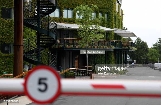 A general view inside The All England Tennis and Croquet Club on June 29 2020 in Wimbledon England The Wimbledon Tennis Championships were due to...
