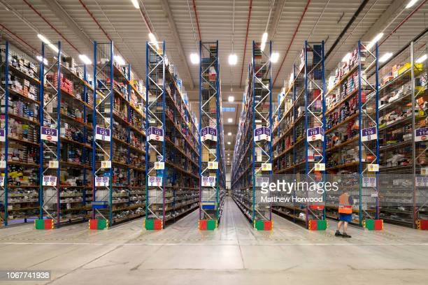 A general view inside the Amazon fulfillment centre as workers gear up for Black Friday and Christmas on November 13 2018 in Swansea Wales The Amazon...