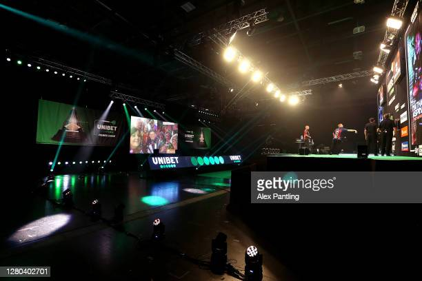 General view inside the arena as play continues behind closed doors during the Unibet Premier League Play-Offs at Ricoh Arena on October 15, 2020 in...