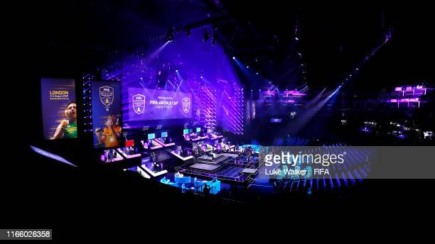 General view inside the arena during Finals day of the FIFA eWorld Cup at the O2 Arena on August 04, 2019 in London, England.