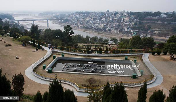 General view inside the Baghebahu Gardens on February 11 2012 in Jammu the winter capital of Indian administered Kashmir IndiaBagheBahu is a terraced...