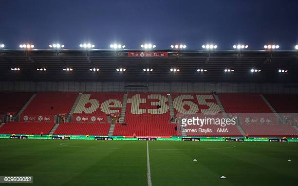 A general view inside the bet365 Stadium before the EFL Cup Third Round match between Stoke City and Hull City at Bet365 Stadium on September 21 2016...