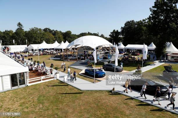 General view inside the Championship Village ahead of the BMW PGA Championship at Wentworth Golf Club on September 18, 2019 in Virginia Water, United...