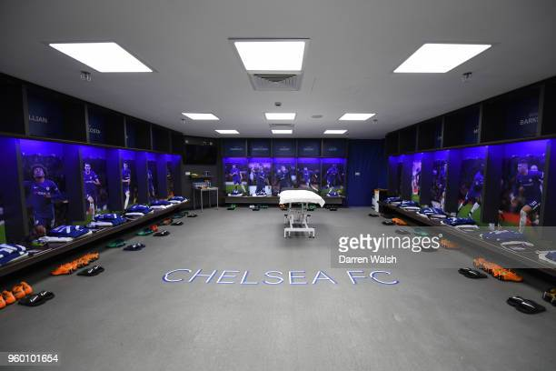 General view inside the Chelsea dressing room prior to The Emirates FA Cup Final between Chelsea and Manchester United at Wembley Stadium on May 19...
