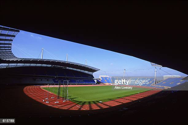 A general view inside the City of Manchester Stadium the venue for the 2002 Commonwealth Games Manchester on April 252002