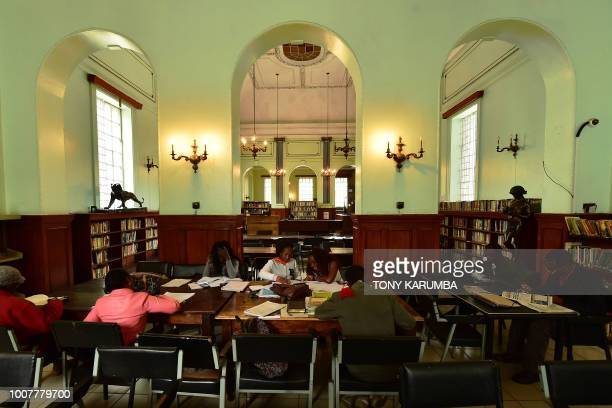 A general view inside the colonialera McMillan Memorial Library in the Kenyan capital Nairobi established in 1931 and named after USborn...