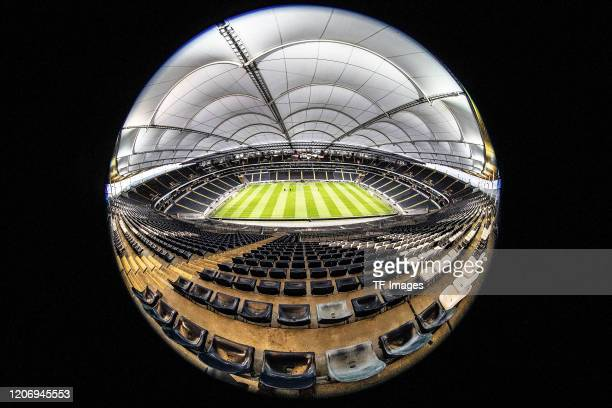 general view inside the Commerzbank Arena during the UEFA Europa League round of 16 first leg match between Eintracht Frankfurt and FC Basel at...