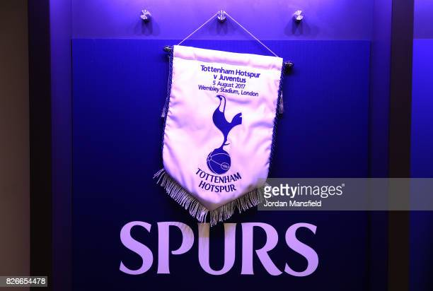 'LONDON ENGLAND AUGUST 05 A general view inside the dressing room prior to the PreSeason Friendly match beween Tottenham Hotspur and Juventus at...