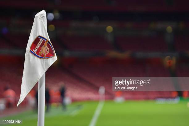 General view inside The Emirates Stadium prior to the UEFA Europa League Group B stage match between Arsenal FC and Rapid Wien at Emirates Stadium on...