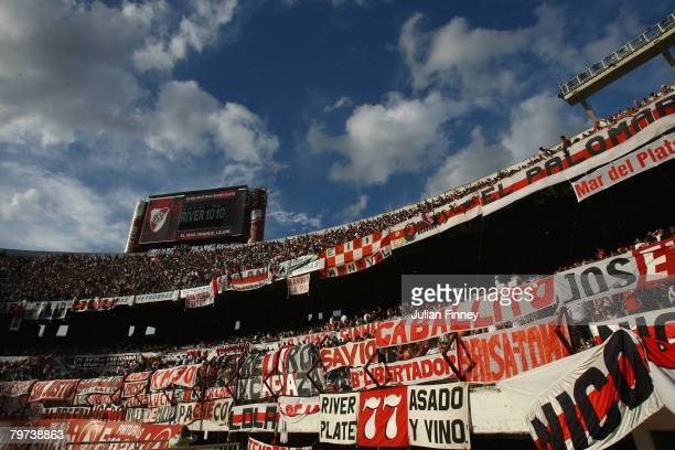 A general view inside the Estadio Monumental before the Primera Division closing season match between River Plate and Gimnasia de Jujuy at the...