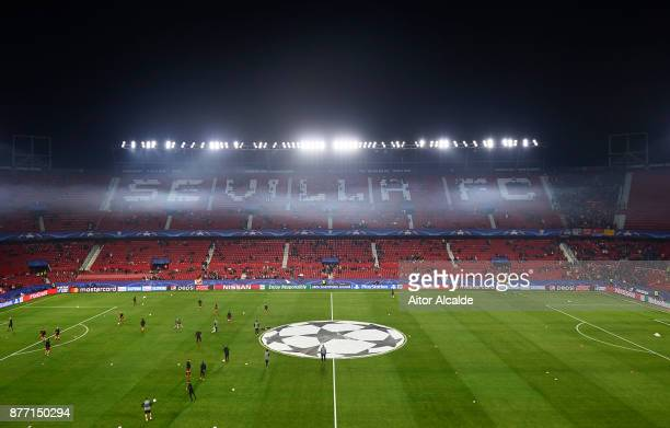 General view inside the Estadio Ramon Sanchez Pizjuan during the UEFA Champions League group E match between Sevilla FC and Liverpool FC at Estadio...