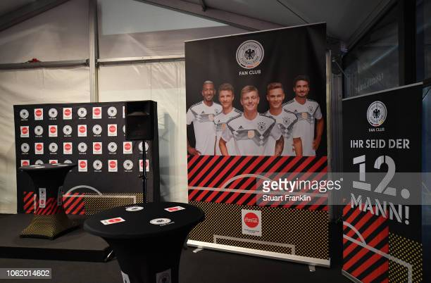 A general view inside the fan club tent prior to the International Friendly match between Germany and Russia at Red Bull Arena on November 15 2018 in...