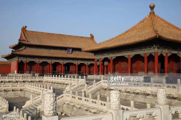 A general view inside the Forbidden City on February 01 2018 in Beijing China Mrs May is being accompanied by a business delegation during her...