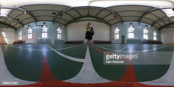A general view inside the former Reading prison building on September 1 2016 in Reading England The former Reading Prison has opened to the public...