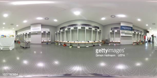 General view inside the Germany dressing room prior to the UEFA Nations League Group A match between Germany and France at Allianz Arena on September...