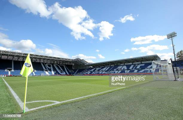 General view inside the Gewiss Stadium prior to he Serie A match between Atalanta BC and Cagliari Calcio at Gewiss Stadium on October 4, 2020 in...
