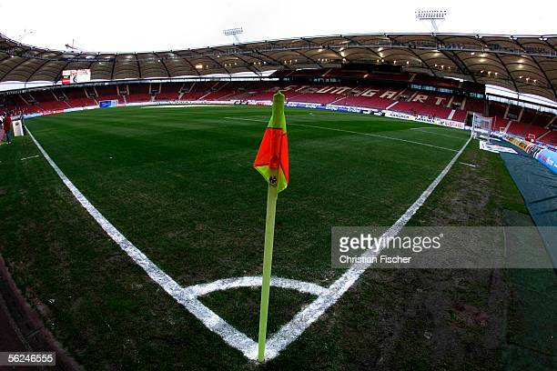 A general view inside the Gottlieb Daimler Stadium is seen during the Bundesliga match between VFB Stuttgart and Hanover 96 at the Gottlieb Daimler...