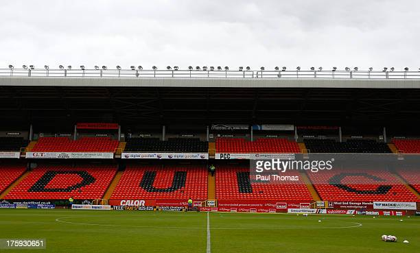A general view inside the ground before the Scottish Premier League match between Dundee United and Inverness Caledonian Thistle at Tannadice Park on...