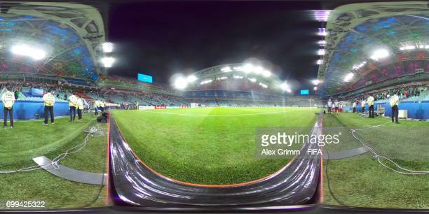 A general view inside the ground during the FIFA Confederations Cup Russia 2017 Group A match between Mexico and New Zealand at Fisht Olympic Stadium...
