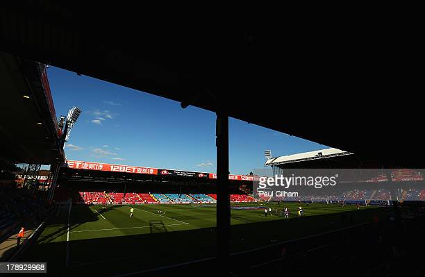 A general view inside the ground prior to the Barclays Premier League match between Crystal Palace and Sunderland at Selhurst Park on August 31 2013...
