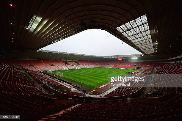 A general view inside the ground prior to the Barclays Premier League match between Sunderland and Chelsea at Stadium of Light on November 29 2014 in...