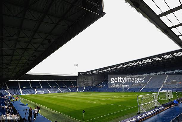 A general view inside the ground prior to the Barclays Premier League match between West Bromwich Albion and Chelsea at The Hawthorns on August 23...
