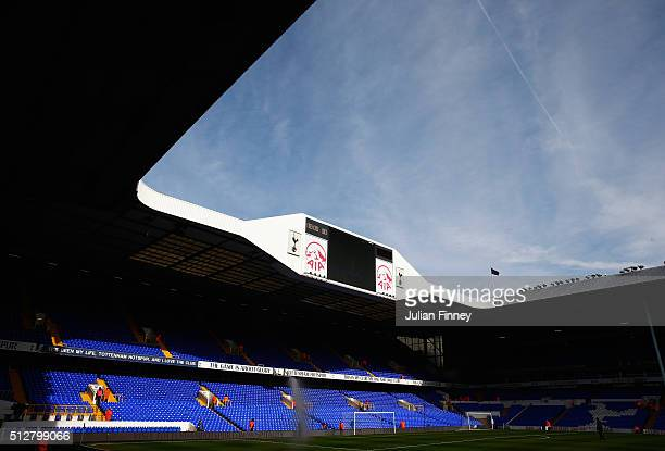 A general view inside the ground prior to the Barclays Premier League match between Tottenham Hotspur and Swansea City at White Hart Lane on February...