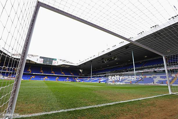 A general view inside the ground prior to the Barclays Premier League match between Tottenham Hotspur and Arsenal at White Hart Lane on March 5 2016...