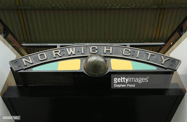 A general view inside the ground prior to the Barclays Premier League match between Norwich City and Watford at Carrow Road on May 11 2016 in Norwich...