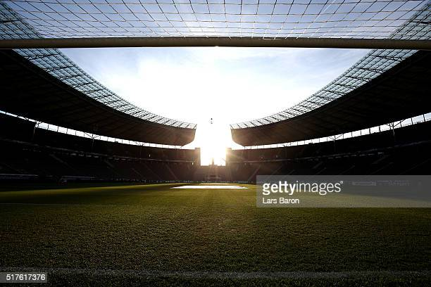 A general view inside the ground prior to the International Friendly match between Germany and England at Olympiastadion on March 26 2016 in Berlin...