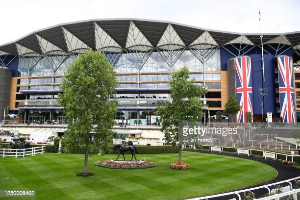 General view inside the grounds prior to Day One of Royal Ascot at Ascot Racecourse on June 16, 2020 in Ascot, England.