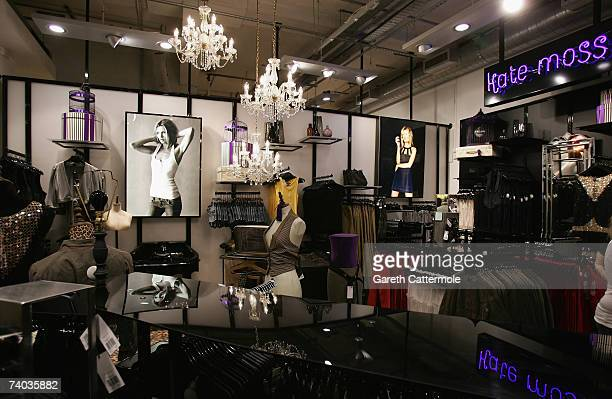 General view inside the Kate Moss clothing section of Top Shop on Oxford Street during the official public launch of the Kate Moss collection on May...