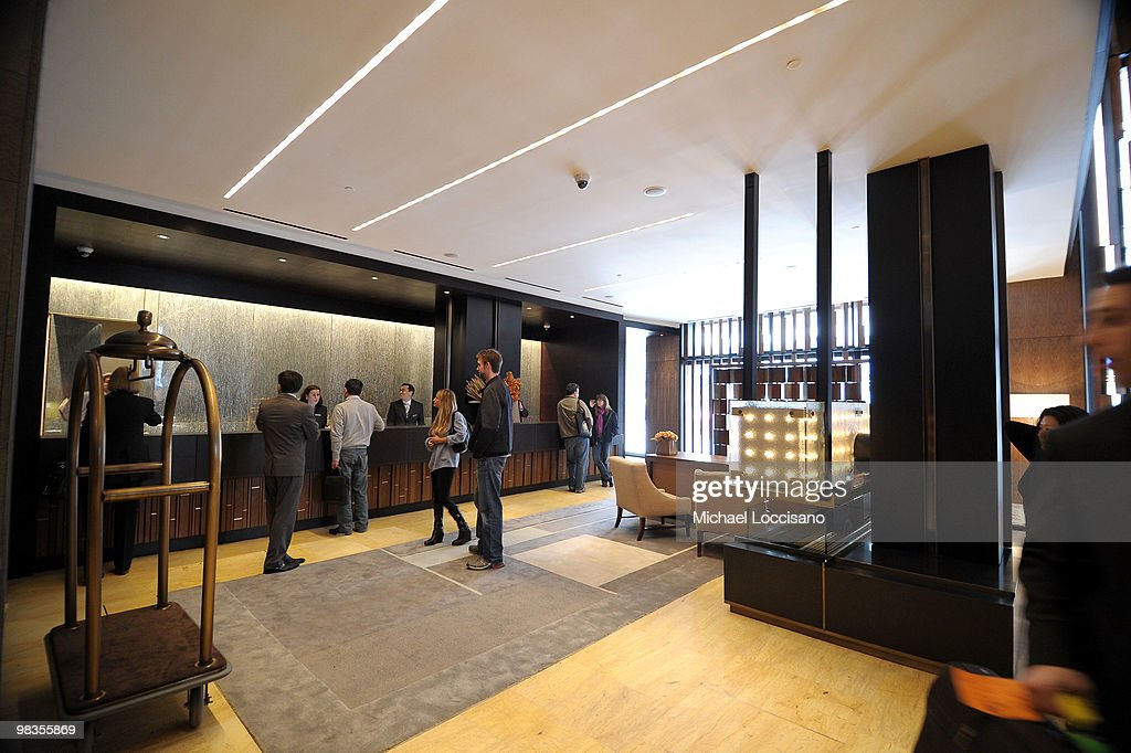 General view inside the lobby during the ribbon cutting ceremony for Trump SoHo New York at Trump SoHo on April 9, 2010 in New York City.