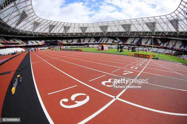 A general view inside the London Stadium prior to the 16th IAAF World Athletics Championships London 2017 at The London Stadium on August 3 2017 in...