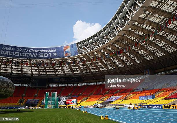 A general view inside the Luzhniki Stadium on August 6 2013 in Moscow Russia