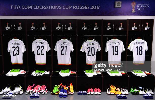 General view inside the Mexico changing room prior to the FIFA Confederations Cup Russia 2017 PlayOff for Third Place between Portugal and Mexico at...