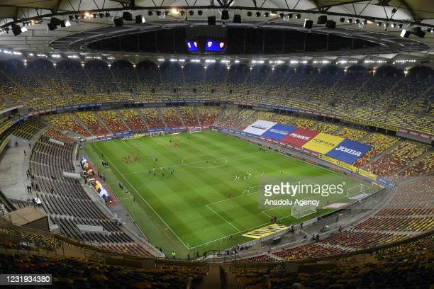 General view inside the National Arena Stadium during the FIFA World Cup Qatar 2022 Group J qualification football match between Romania and North...