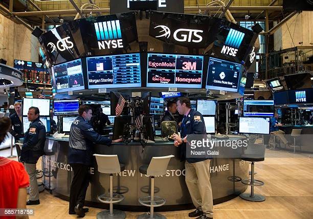 General view inside the New York Stock Exchange on August 3, 2016 in New York City.