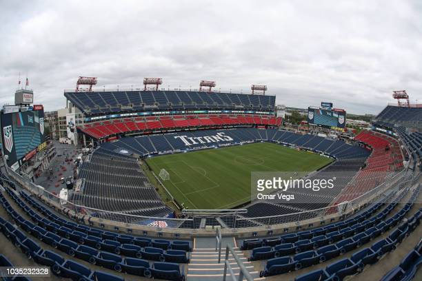 General view inside the Nissan Stadium prior the International Friendly Match between Mexico and United States at Nissan Stadium on September 11 2018...
