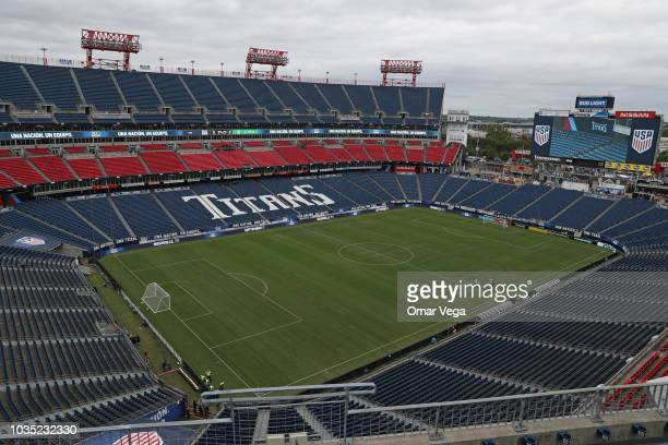 General view inside the Nissan Stadium prior the International Friendly Match between Mexico and United States at Nissan Stadium on September 11,...