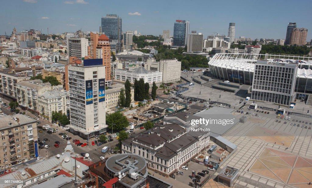 Preparations For UEFA Champions League Final 2018