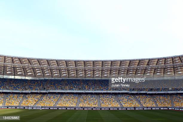 General view inside the Olympic Stadium before the UEFA EURO 2012 Final Draw Ceremony on December 2, 2011 in Kiev, Ukraine.
