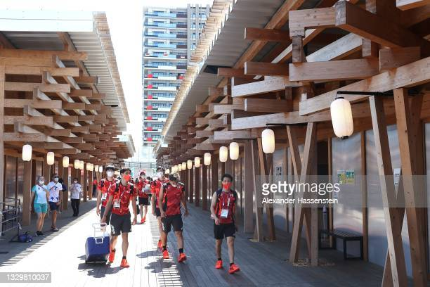 General view inside the Olympic Village ahead of the Tokyo 2020 Olympic Games on July 21, 2021 in Tokyo, Japan.