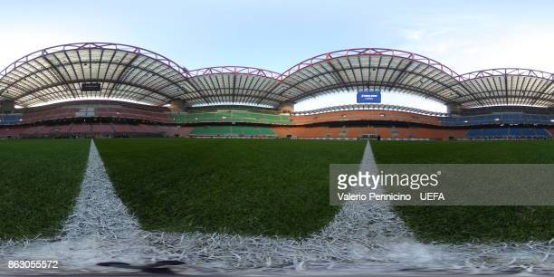 A general view inside the San Siro stadium ahead the UEFA Europa League group D match between AC Milan and AEK Athens at on October 19 2017 in Milan...